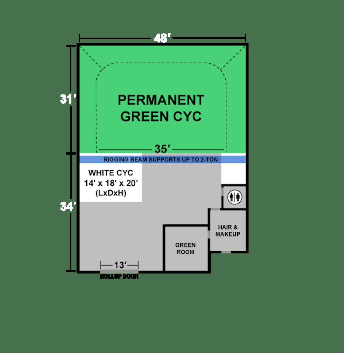 green screen studio floor plan